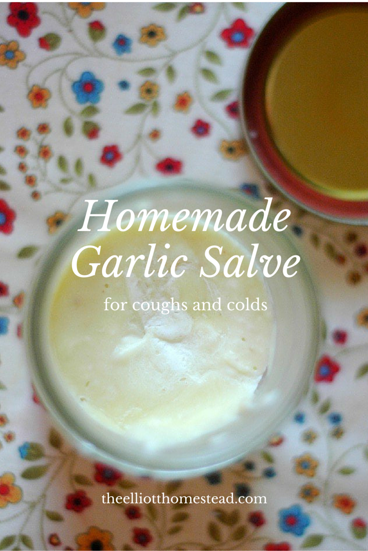 Homemade Garlic Salve for coughs and colds
