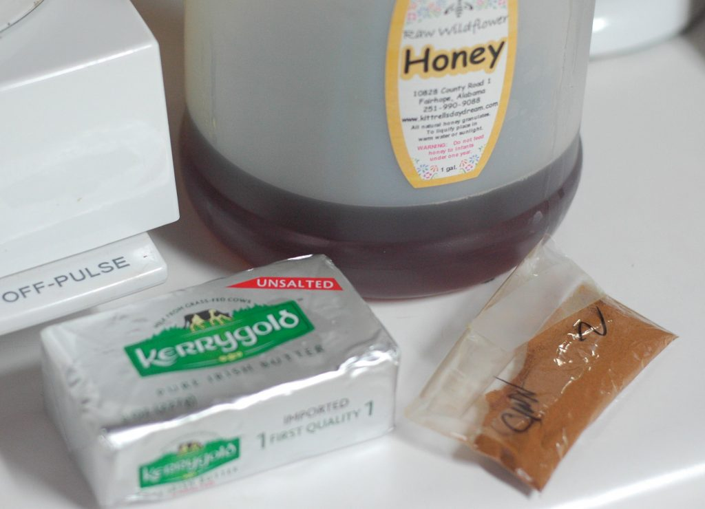 honey, cinnamon and Kerrygold butter