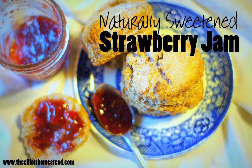 Naturally Sweetened Strawberry Jam Recipe