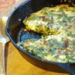 Parmesan Frittata with Rosemary & Greens