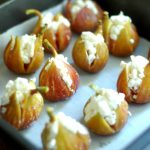 Roasted Figs with Goat Cheese & Honey