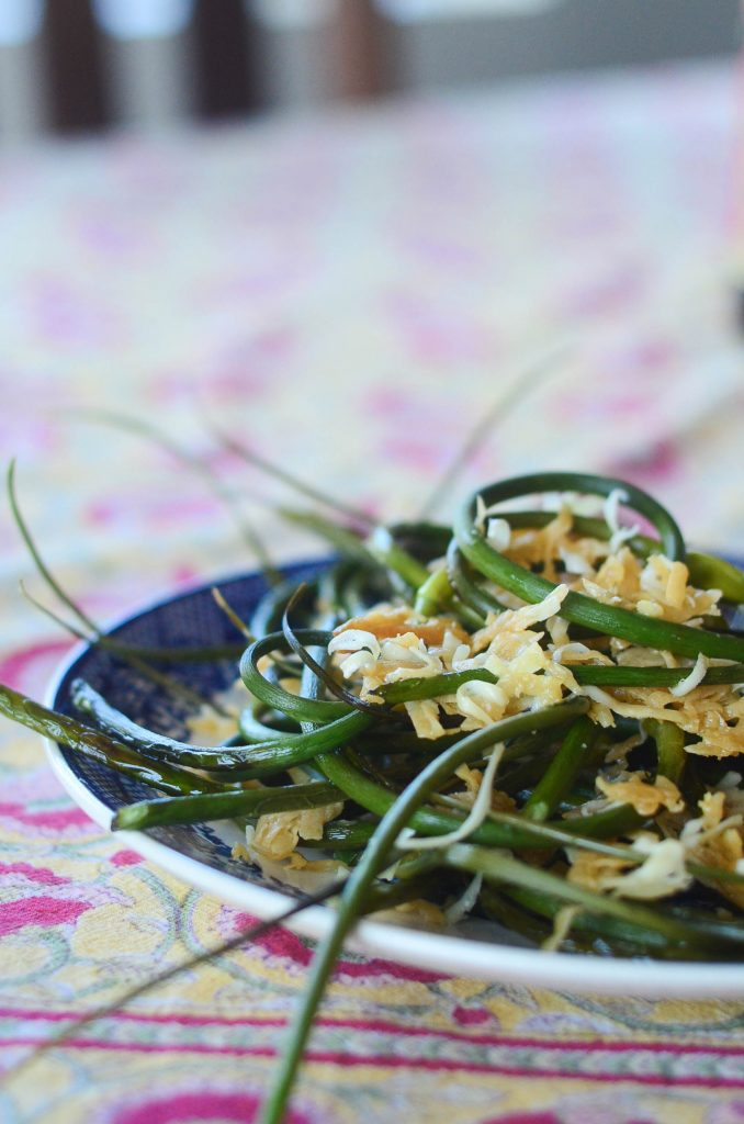 Roasted Garlic Scapes with Parmesan | The Elliott Homestead (.com)