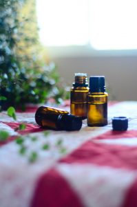 essential oils on a table