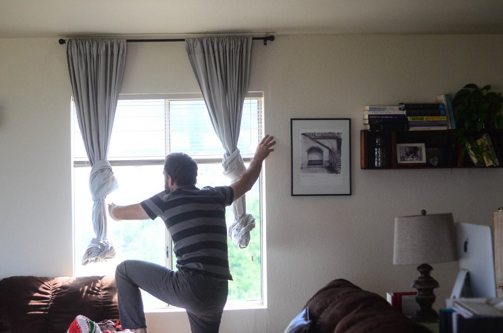 Removal of the old curtains... | The Elliott Homestead (.com)