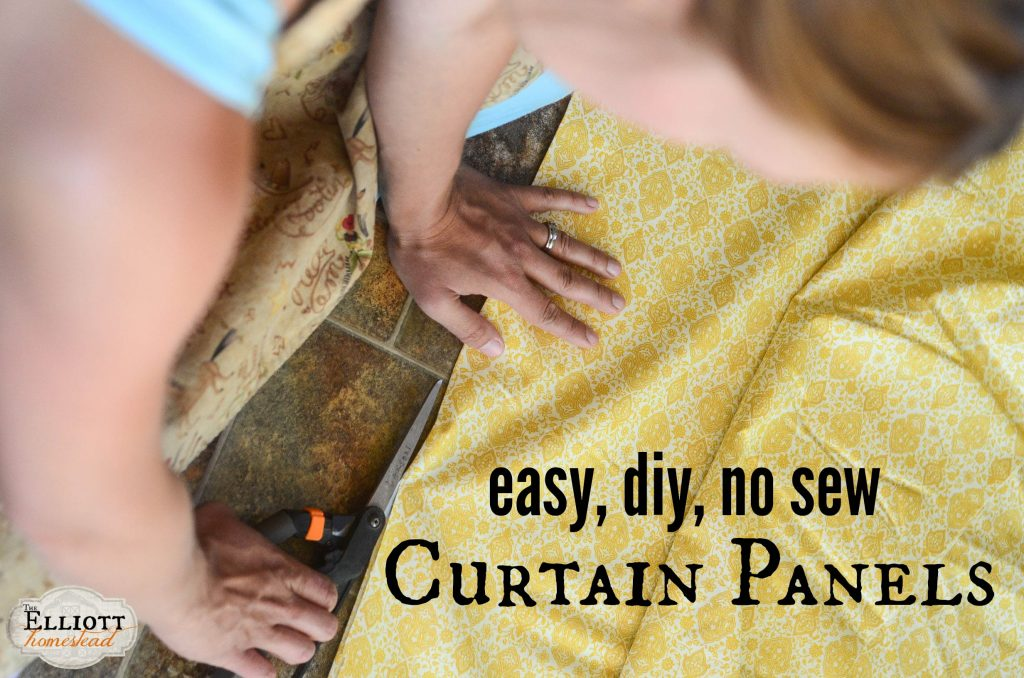 Easy, No-Sew Curtain Panels | The Elliott Homestead (.com)