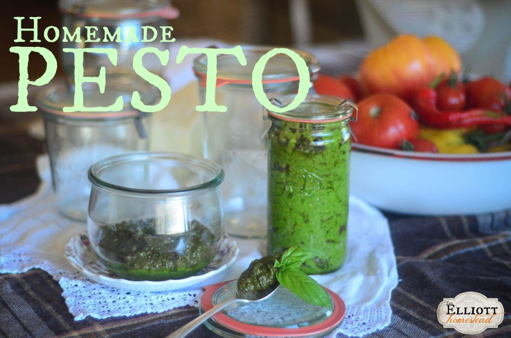Homemade Pesto (and a GIVEAWAY!) | The Elliott Homestead (.com)