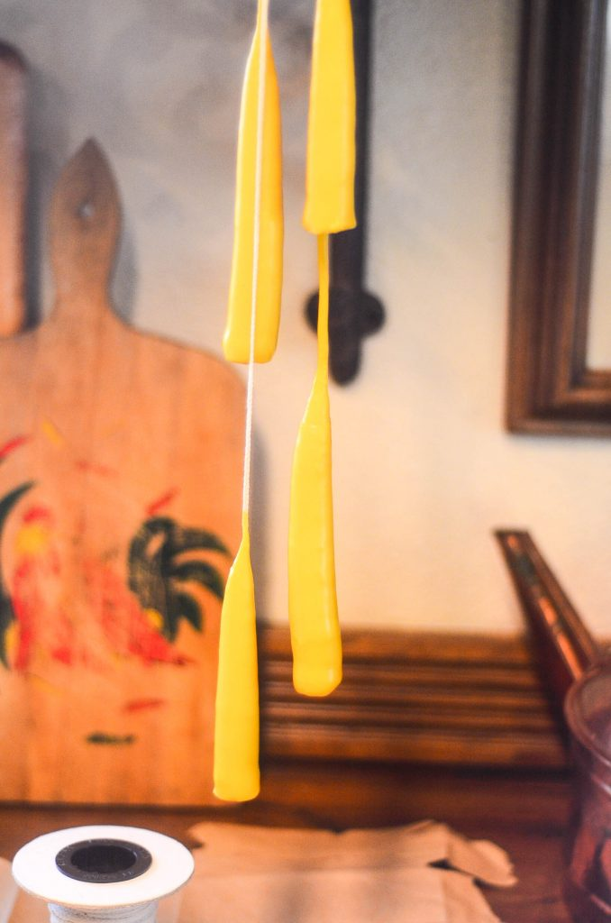 Drying beeswax candles | The Elliott Homestead (.com)