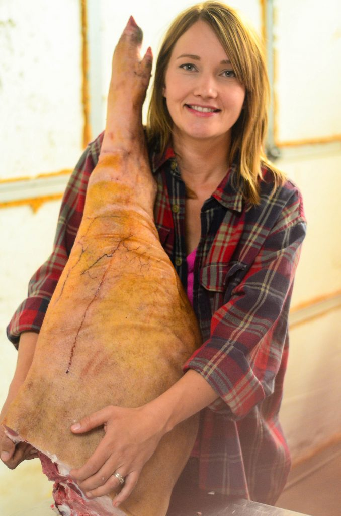 Butchering a Pig: Me and my proscuitto | The Elliott Homestead