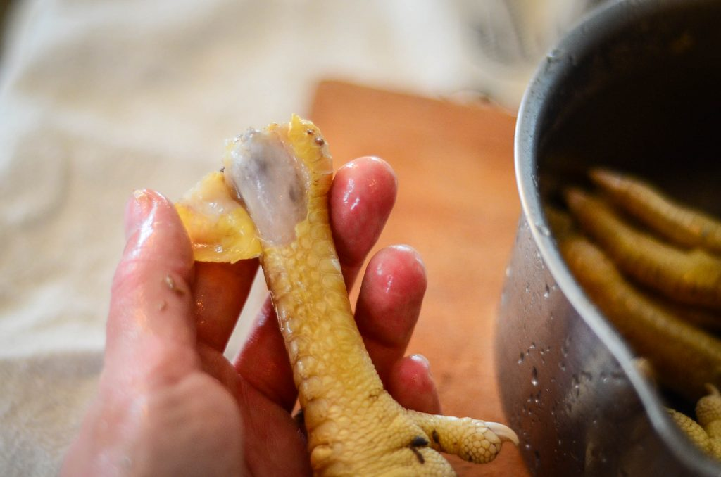 How to peel a chicken foot | The Elliott Homestead