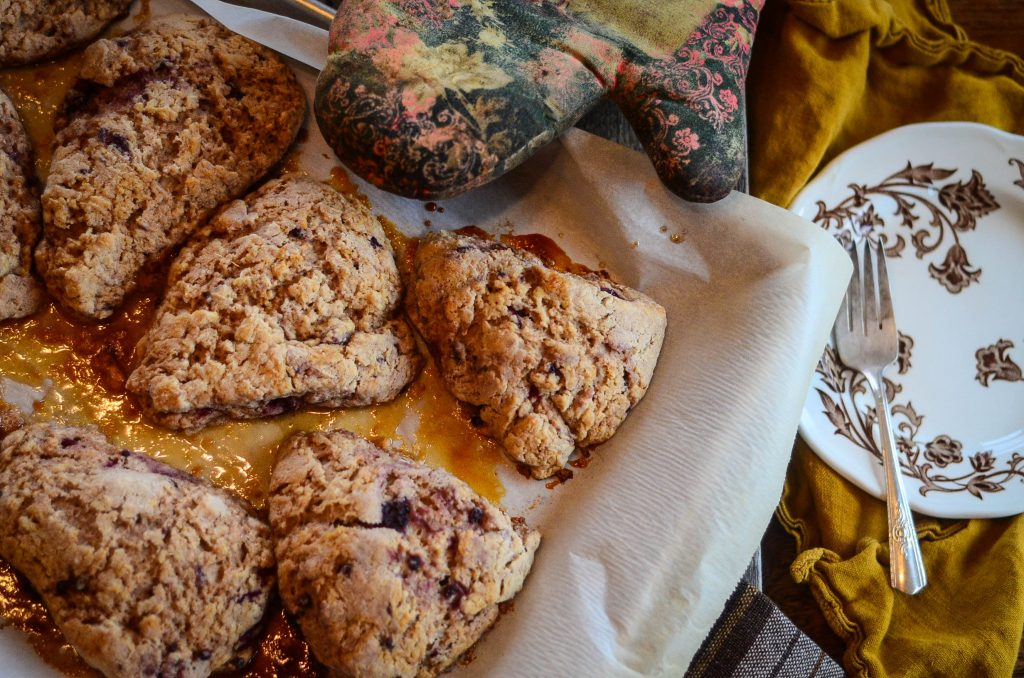 Spelt Scones With Berries & Cream | The Elliott Homestead