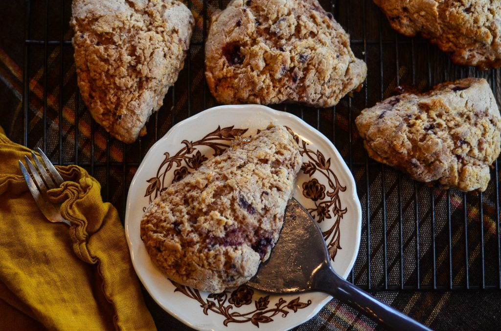 Sprouted Spelt Scones with Berries, Honey, and Cream | The Elliott Homestead
