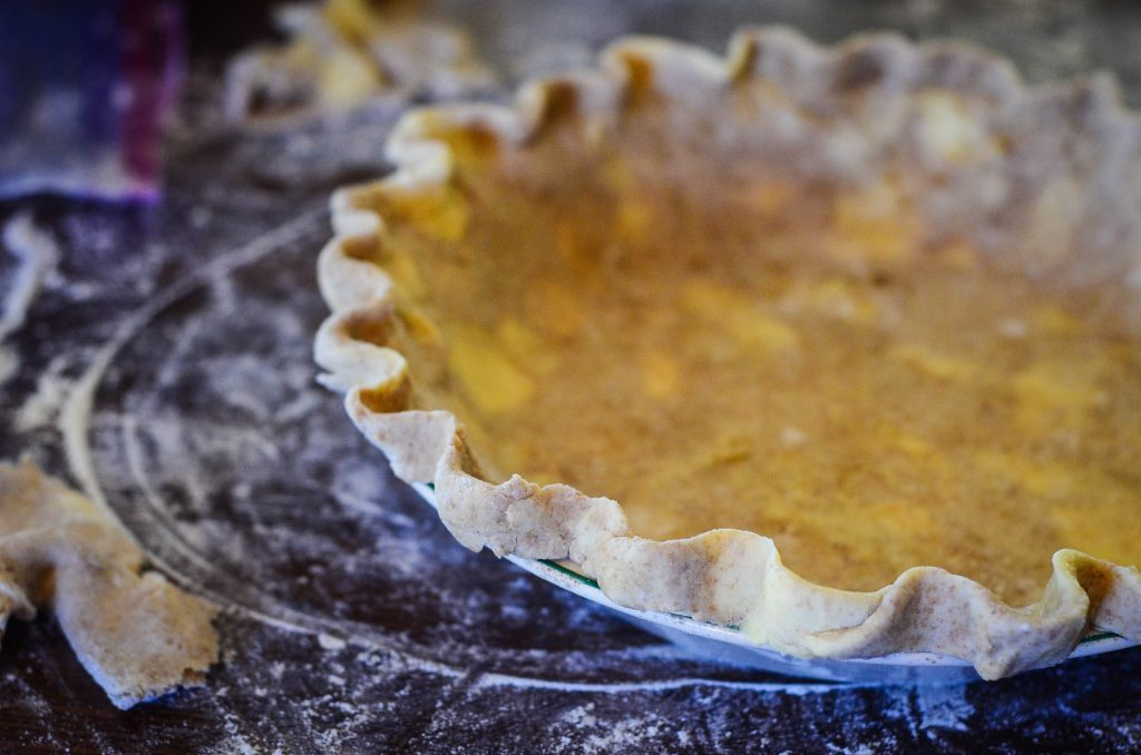 Ugly pie crust.
