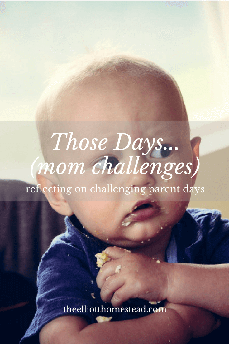 Those days....motherhood challenges