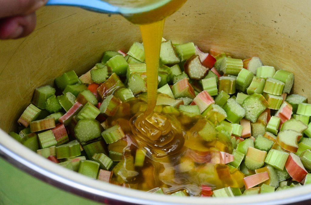 Rhubarb and honey ... ready for chutney! | The Elliott Homestead