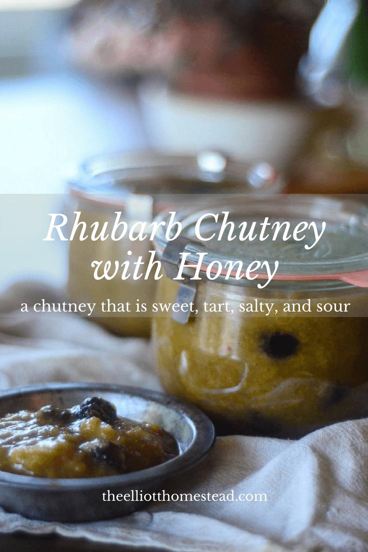Rhubarb Chutney with Honey Recipe