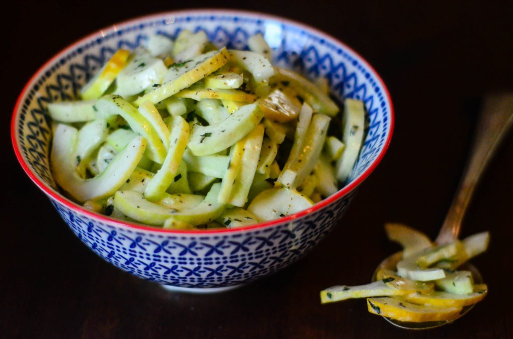 Fresh and easy cucumber salad with mint | The Elliott Homestead