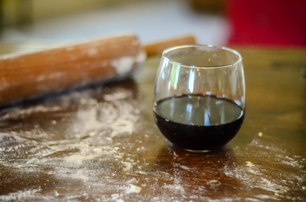 Wine is an essential part of pasta making | The Elliott Homestead