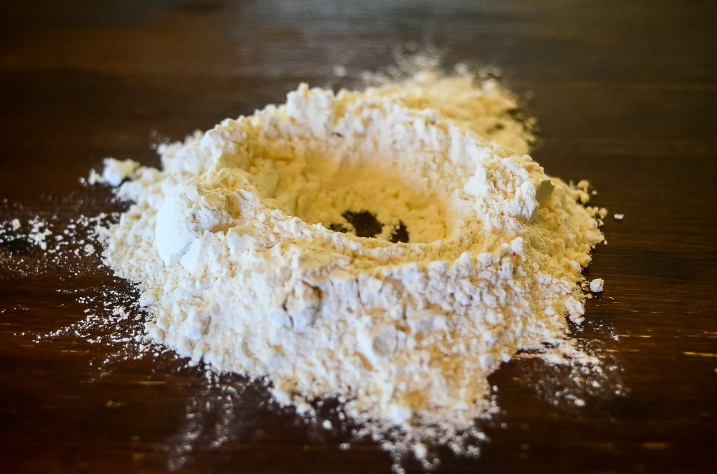 Step 1: Make a well in your flour | The Elliott Homestead