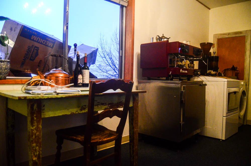 Espresso, laundry, and trash.