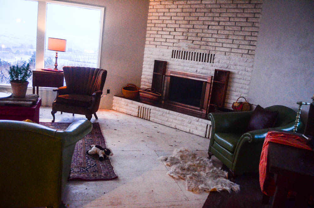 Fireplace and floor remodel
