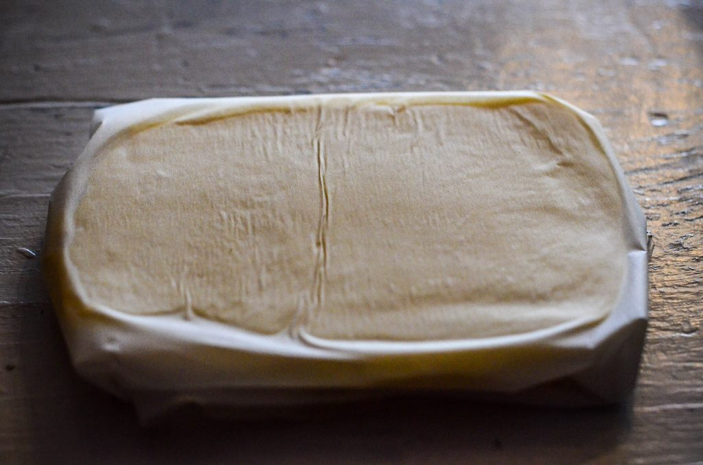 Roll the butter into a rectangle and chill | The Elliott Homestead
