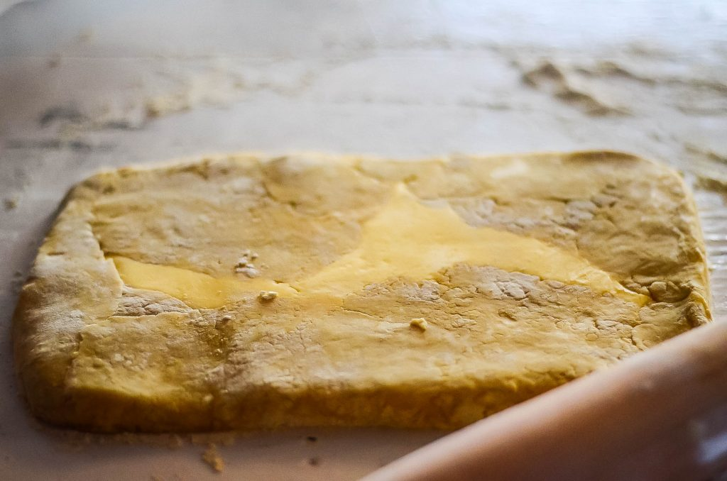 Roll gently to combine the butter and dough | The Elliott Homestead