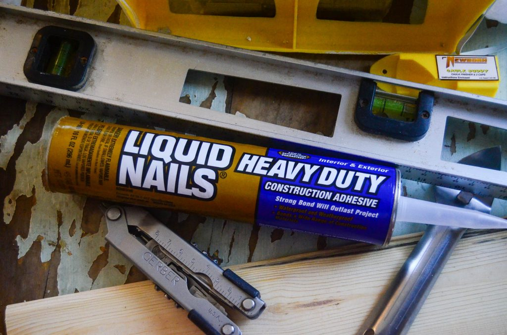 Liquid Nails: A popcorn ceiling covering requirement! | The Elliott Homestead