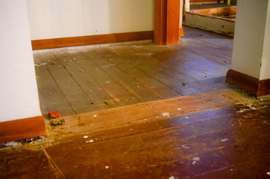 Floors, pre-renovation | The Elliott Homestead
