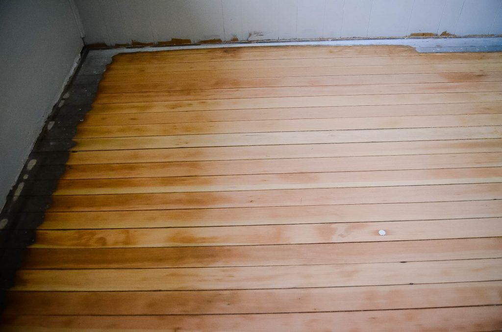 Floors, after lots of sanding! | The Elliott Homestead