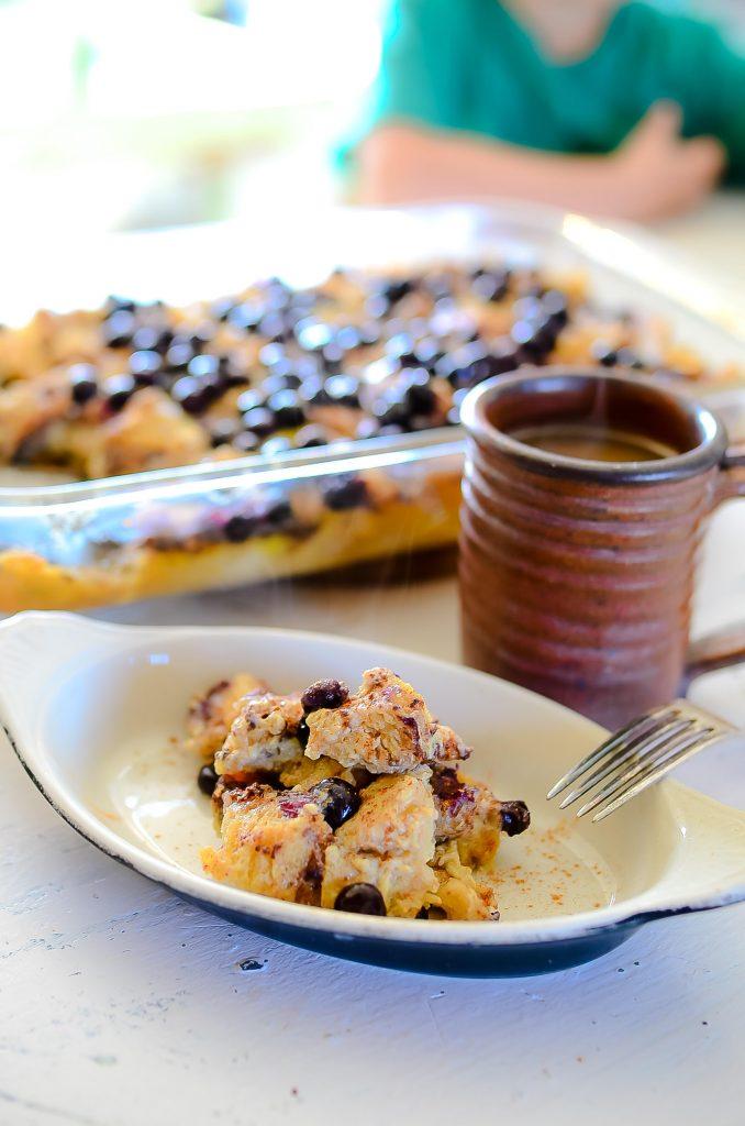 Blueberry and Banana Breakfast Bake | The Elliott Homestead