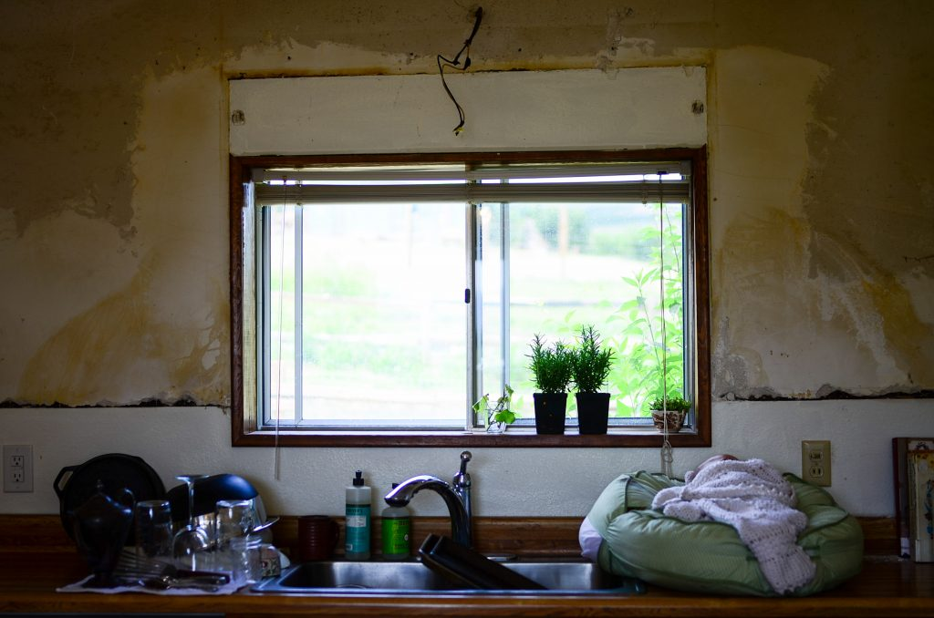 Teeny tiny window... soon to be replaced