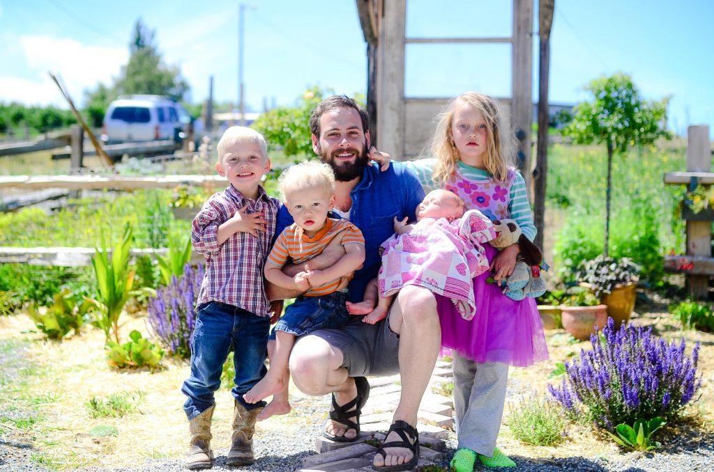 Stu and the kids | The Elliott Homestead