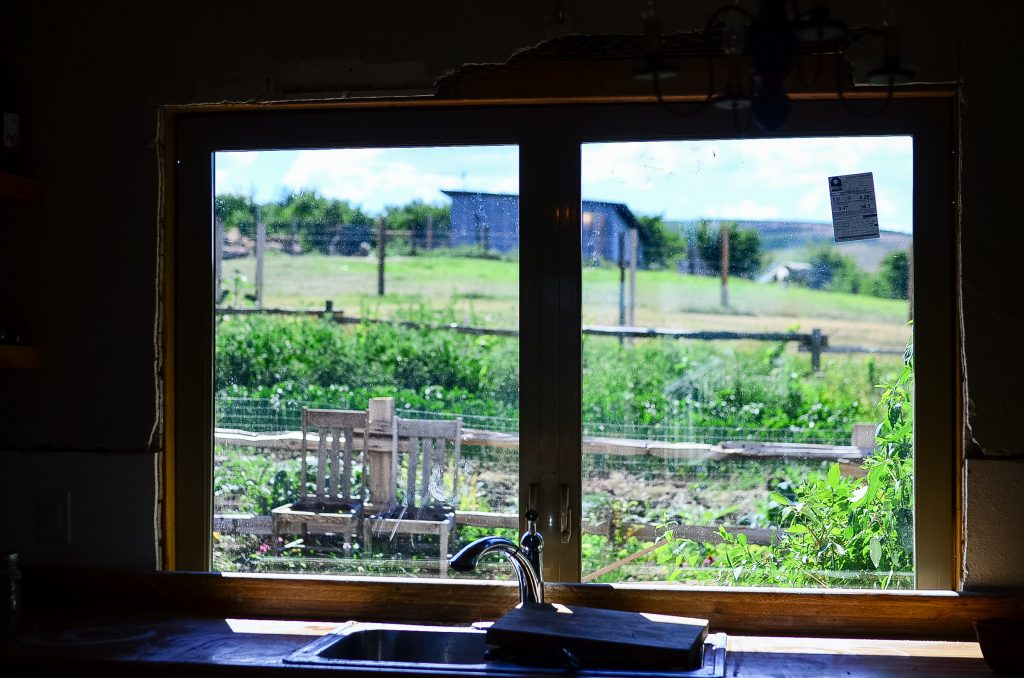 Check out the view from the farmhouse sink!