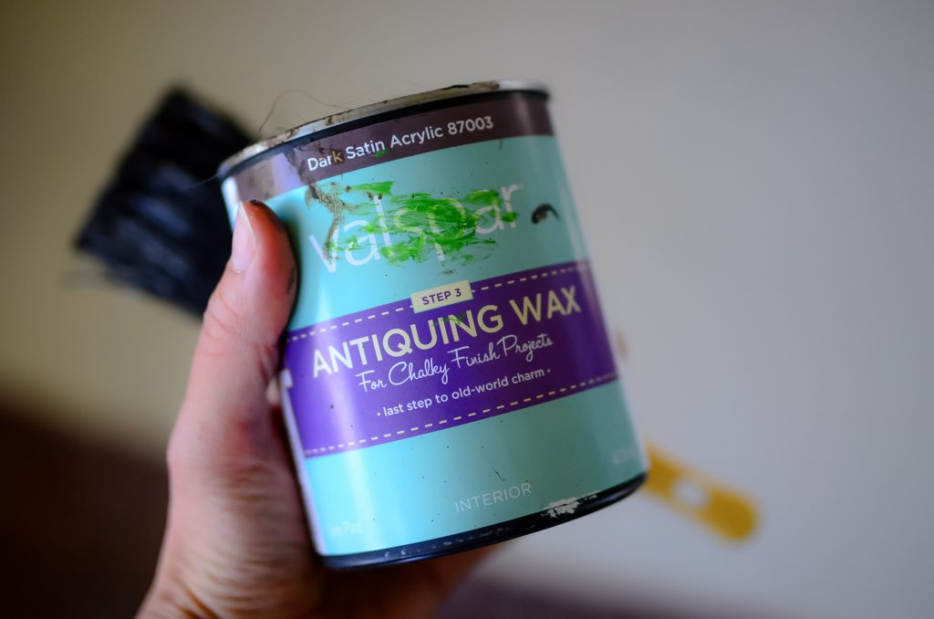 The magic trick to distressing wood: antiquing wax!