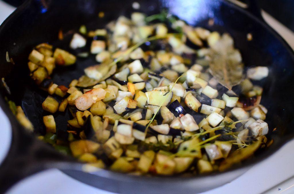 Eggplant for ratatouille