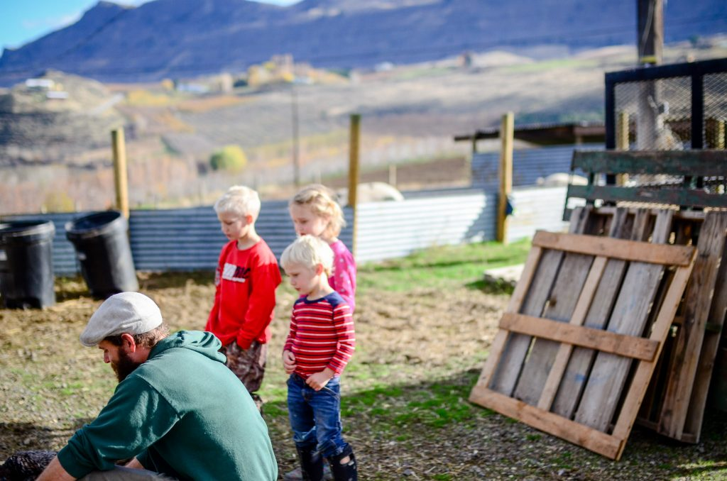 Farm kids watching and learning | The Elliott Homestead