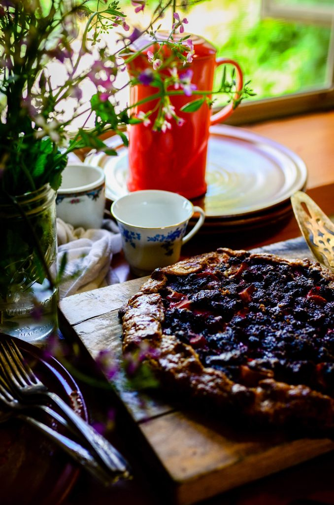 Blueberry & Rhubarb Galette | The Elliott Homestead (.com)