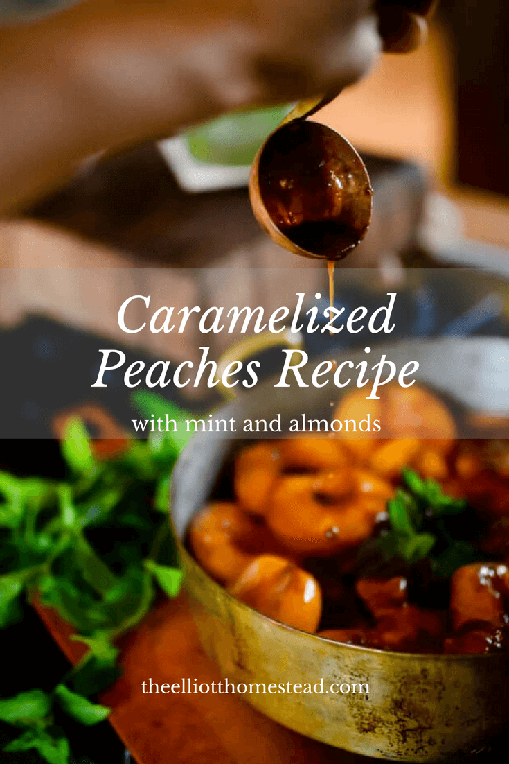 Caramelized Peaches with Mint & Almonds