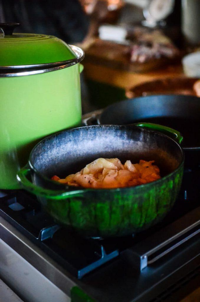 Rendering down duck fat | The Elliott Homestead