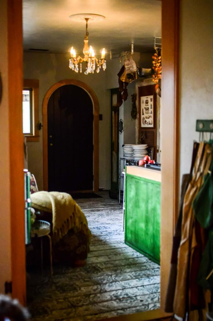 Entering the cottage kitchen from the dining room   The Elliott Homestead