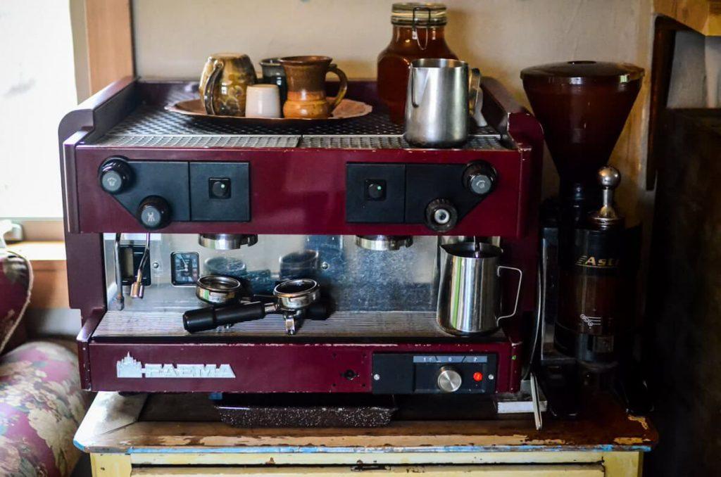 Espresso machine in our cottage kitchen | The Elliott Homestead