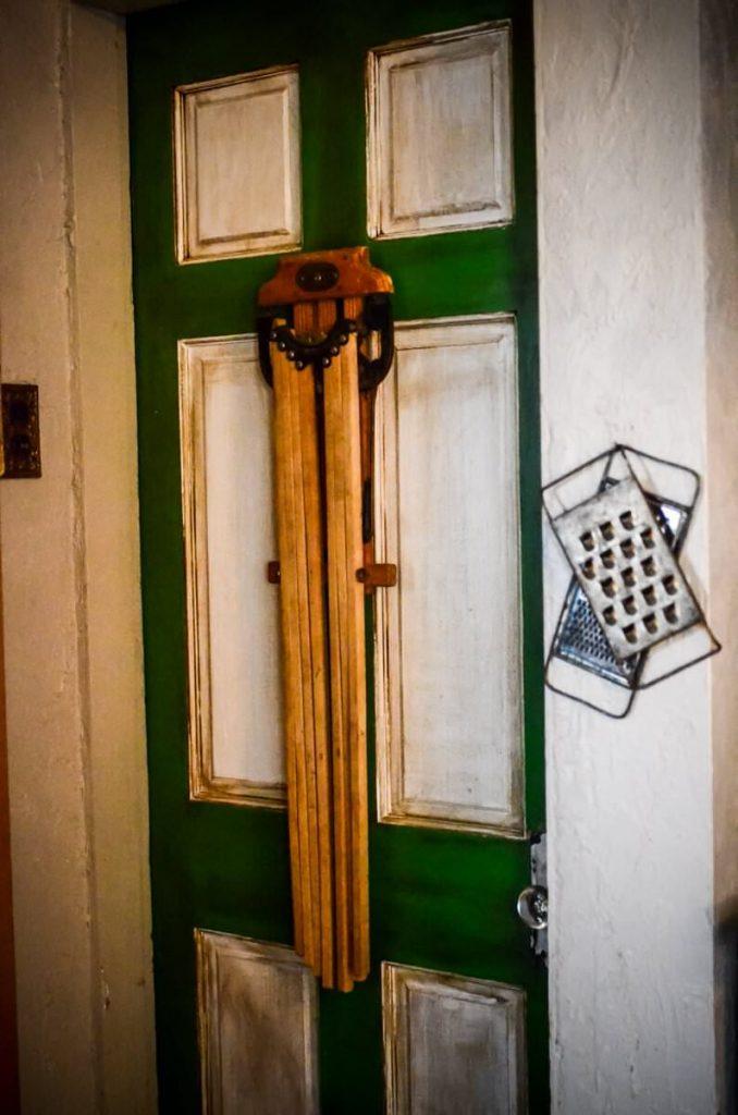 Root cellar door in our cottage kitchen | The Elliott Homestead