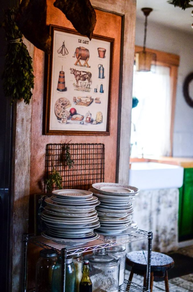 Dish storage in our cottage kitchen | The Elliott Homestead