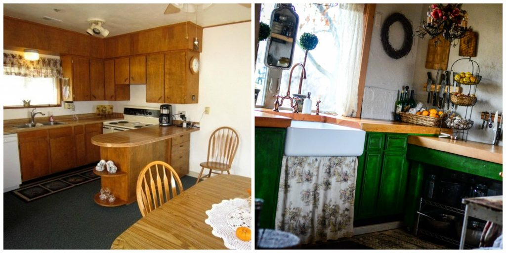 Before and after in our cottage kitchen | The Elliott Homestead