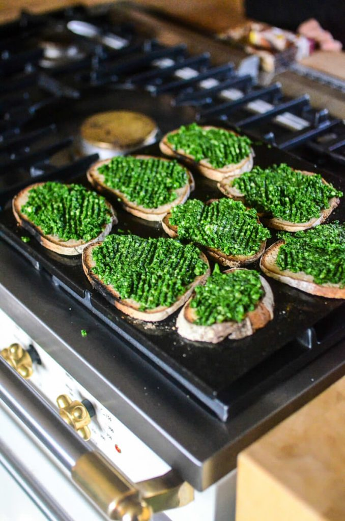 Spinach toasts with Parmesan | The Elliott Homestead