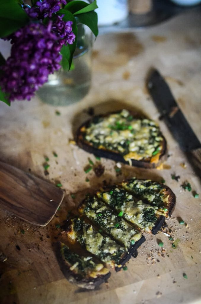 Spinach and Parmesan Toasts | The Elliott Homestead (.com)