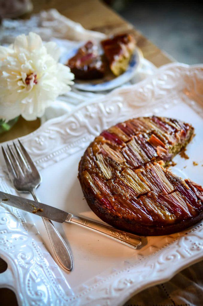 Einkorn Rhubarb Cake | The Elliott Homestead