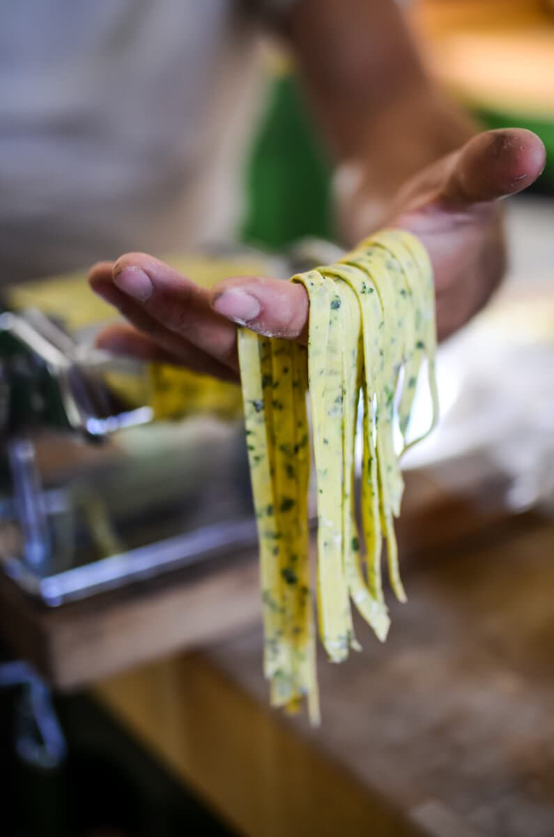 Homemade Herb Pasta