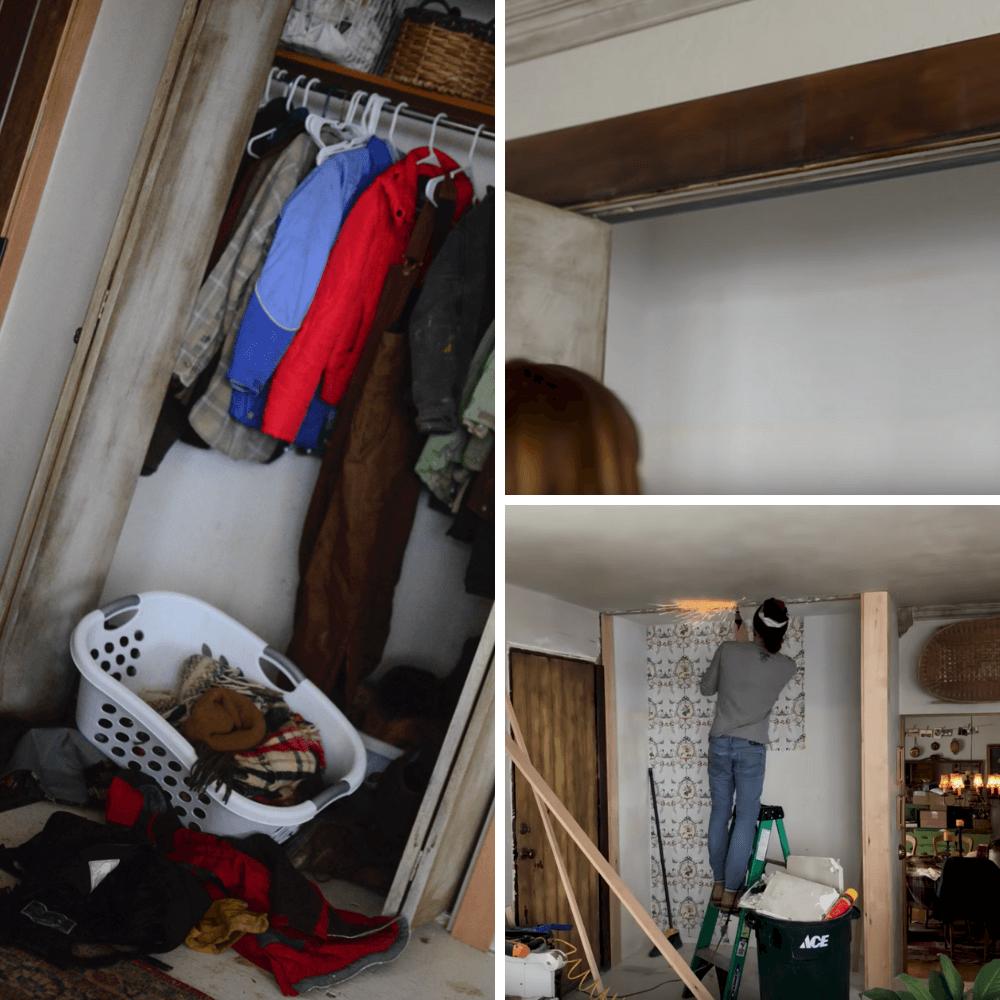 How to make a farmhouse closet | The Elliott Homestead
