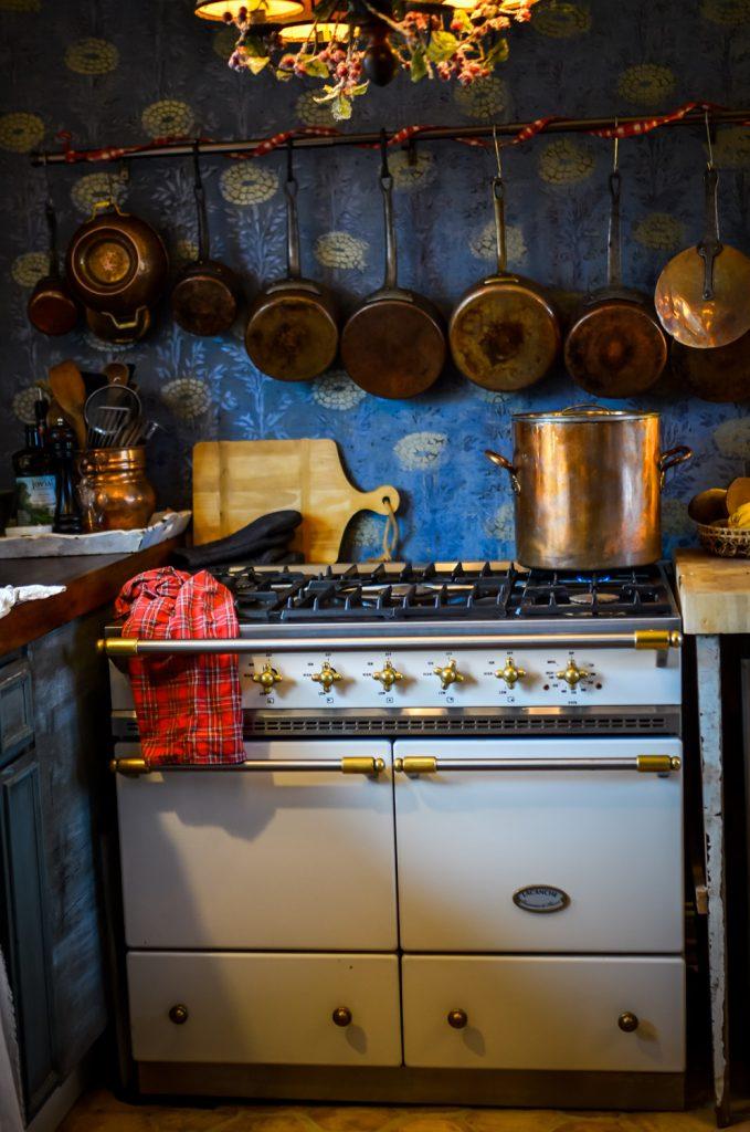 Lacanche range in the cottage kitchen | The Elliott Homestead